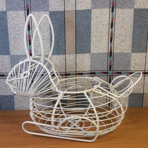 Other - Wire Bunny Rabbit Basket Egg Gathering Easter Deco